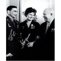 Tereshkova / Bykovsky original authentic genuine signed photo