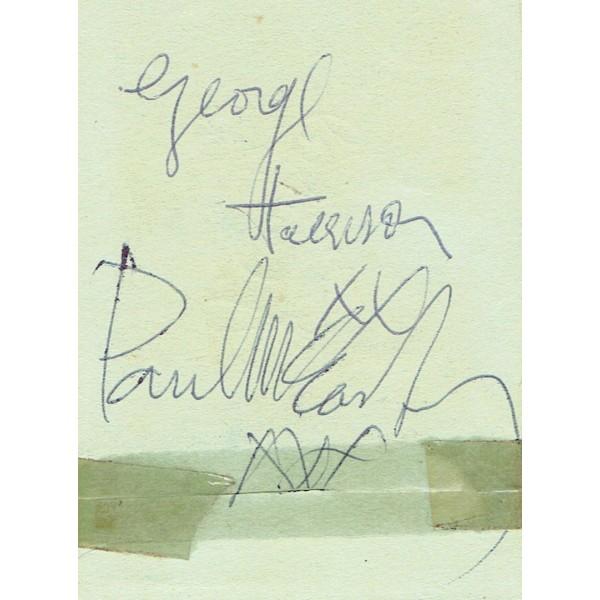The Beatles  authentic signed autograph signatures