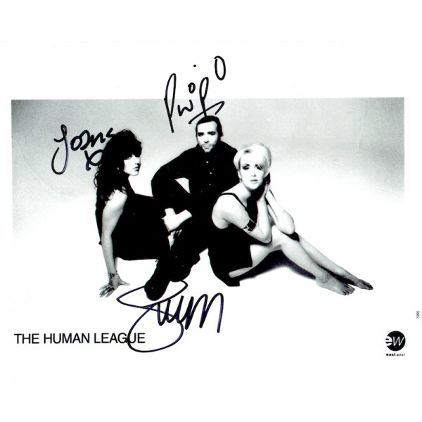 The Human League  original authentic genuine autograph signed photo