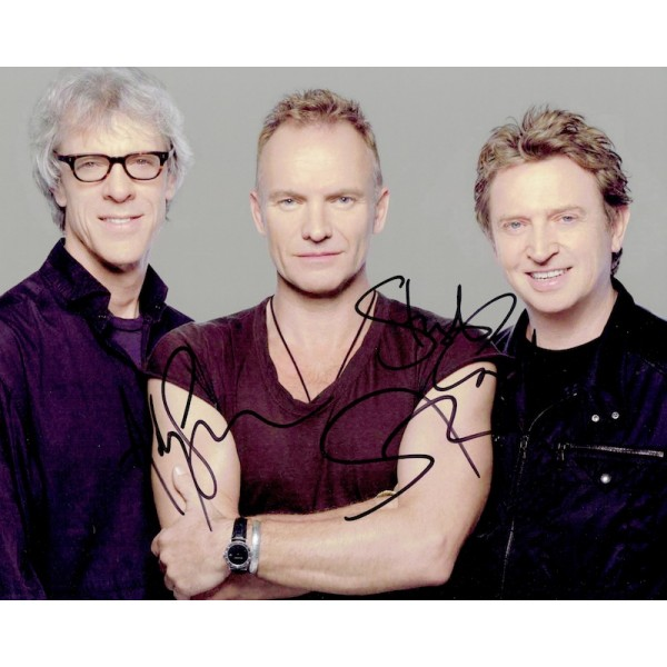 The Police genuine authentic signed autograph signatures photo