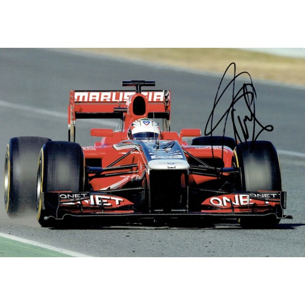 Timo Glock original authentic genuine signed photo
