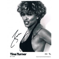 Tina Turner original authentic genuine signed photo