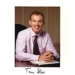 Tony Blair  original authentic genuine autograph signed photo