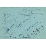 Varzi, Sommer, Farina, Wimille authentic signed autograph signatures