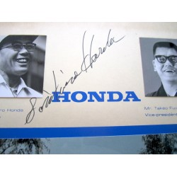 Yoichiro Honda genuine authentic signed autograph signatures