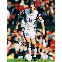 Zinedine Zidane signed authentic genuine signature