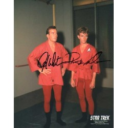 William Shatner & Robert Walker hand signed Star Trek autograph