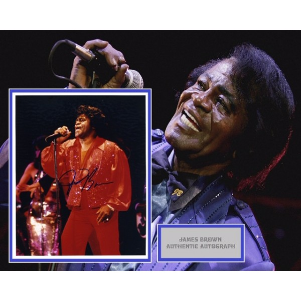 James Brown authentic genuine signed mounted photo