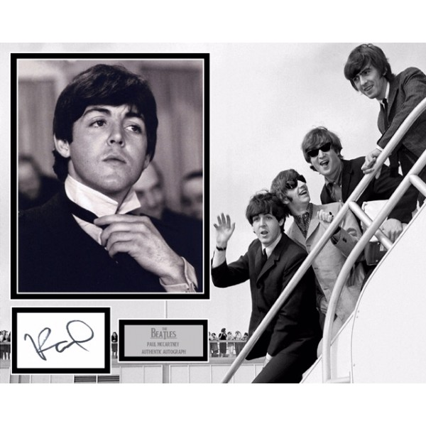Sir Paul McCartney authentic genuine signed mounted photo