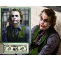 Heath Ledger authentic genuine signed mounted Joker photo