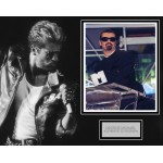 George Michael authentic genuine signed mounted photo