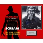 Wes Craven authentic genuine signed mounted  photo