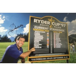 Seve Ballesteros Ryder Cup authentically signed 12 x 8 photo