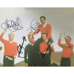 Seve Ballesteros, Howard Clark, Sam Torrance, Tony Jacklin genuine signed 12 x 8 photo