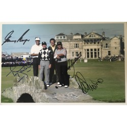 Gary Player Lee Trevino Seve Ballesteros, Tony Jacklin Open Champions signed 12 x 8 photo