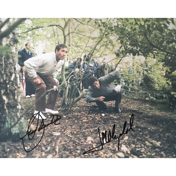 Seve Ballesteros and Jose Maria Olazabal authentic signed 10 x 8 photo