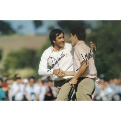 Seve Ballesteros and Jose Maria Olazabal authentic signed 12 x 8 photo