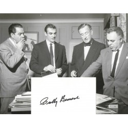 Cubby Broccoli Signed Index With Photograph James Bond 007
