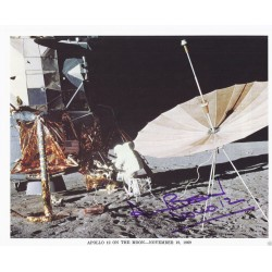 Alan Bean signed 8 x 10 NASA Lithograph - Apollo 12 Moonwalker