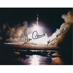 Gene Cernan and Harrison Schmitt Signed 8 x 10 Photo - Apollo 17 Launch Autograph