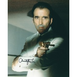 Christopher Lee signed 8 x 10 photo - Scaramanga James Bond 007 Autograph