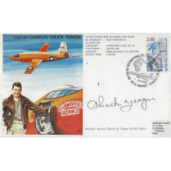 Chuck Yeager Signed Postal Cover