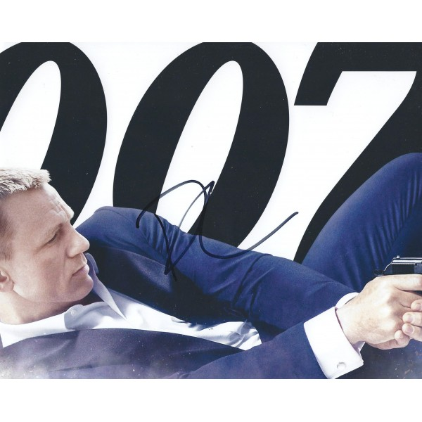 Daniel Craig Signed 8 x 10 Photo 4 James Bond 007 Autograph