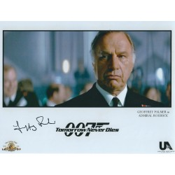 Geoffrey Palmer Signed James Bond 007 Photograph