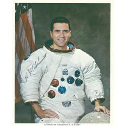 Harrison Schmitt Signed 8 x 10 NASA Lithograph - Apollo 17 Autograph