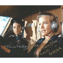 Honor Blackman & Tricia Muller James Bond 007 Goldfinger Signed 8x10 Photo  Pussy Galore