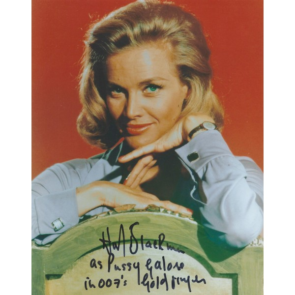 Honor Blackman James Bond 007 Signed 8x10 Photo Goldfinger Pussy Galore