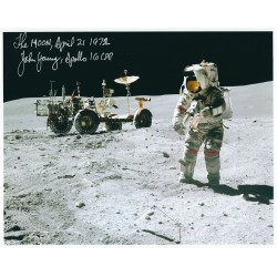 John Young Signed 8 x 10 Photo - Apollo 16 Autograph