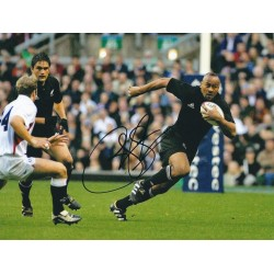 Jonah Lomu Signed 8 x 10 Photo - All Blacks Rugby Autograph