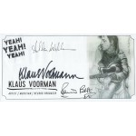 Klaus Voormann Pete Best and Alan Williams signed The Beatles envelope