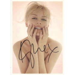 Kylie Minogue signed postcard