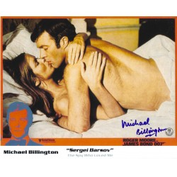 Michael Billington Signed 8 x 10 Photo James Bond 007 Autograph