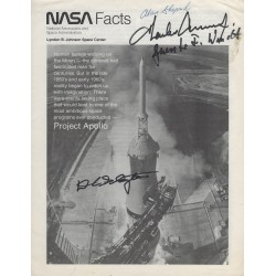 Alan Shepard Charles Pete Conrad Deke Slayton Signed NASA Facts Document