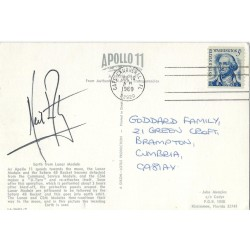 Neil Armstrong Apollo 11 Signed Postcard