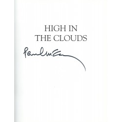 Paul McCartney Signed Book - High in the Clouds - Beatles Autograph