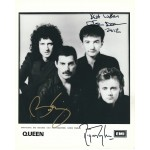 Queen Signed 8 x 10 Promo Photo - Brian May Roger Taylor John Deacon