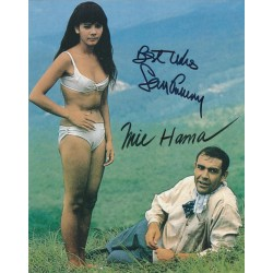 Sean Connery & Mie Hama Signed 8 x 10 Photo - 007 James Bond You Only Live Twice Autograph