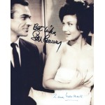 Sean Connery & Zena Marshall Signed 8 x 10 Photo - 007 James Bond Dr No Autograph