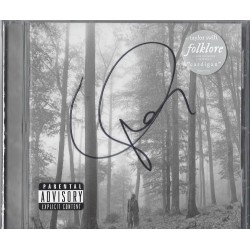 Taylor Swift Signed CD Sleeve - Folklore