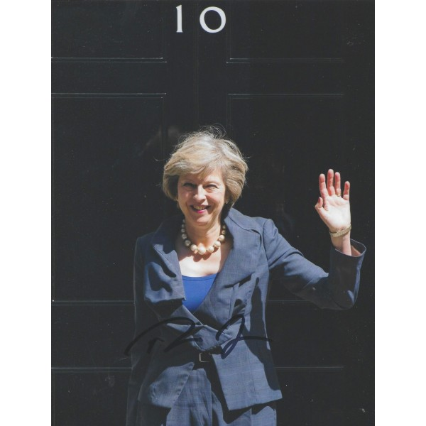 Theresa May Signed 8x10 Photograph UK Prime Minister