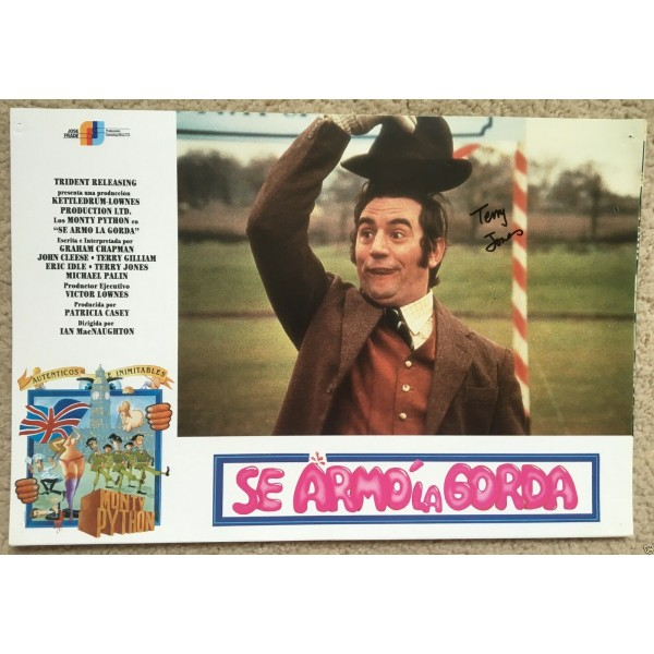Terry Jones  Monty Python  Signed  And Now For Something Completely Different   Lobby Card 1