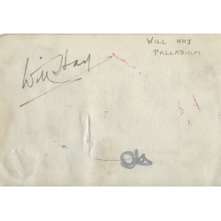 Will Hay Signed Autograph Album Page