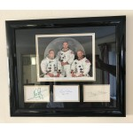 Apollo 11 Full Crew Signed Display - UACC & AFTAL Autograph - Neil Armstrong