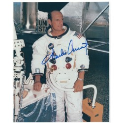 Charles Pete Conrad Apollo 12 Signed 8x10 NASA Photograph