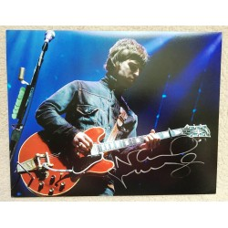 Noel Gallagher Signed 11 x 14 Photo - Oasis Autograph