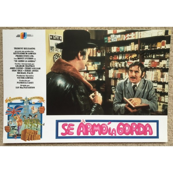 Terry Jones  Monty Python  Signed  And Now For Something Completely Different   Lobby Card 2